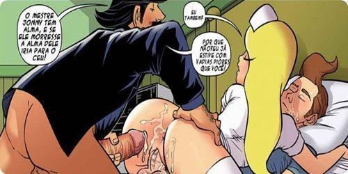 Enfermeira Stacy em quadrinhos porno