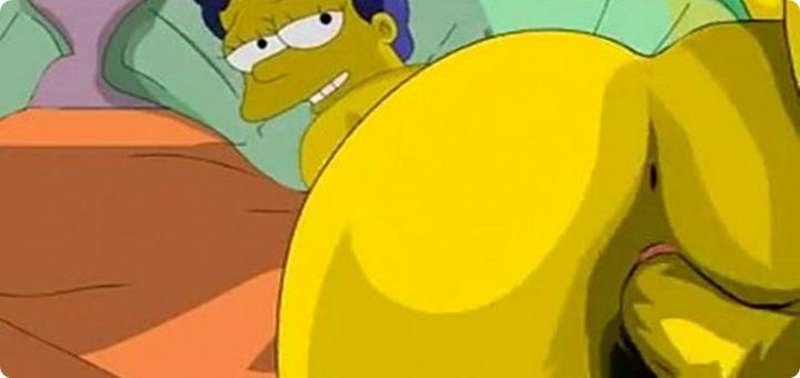 Vídeo Porno Os Simpsons Com Homer Simpson Fodendo a Marge Simpson