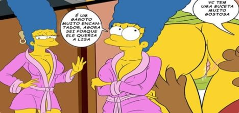 Os Simpsons El Bravucon – Quadrinhos de sexo Marge Simpson