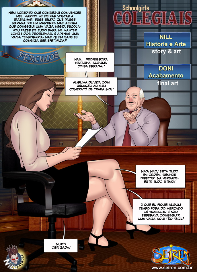 sexo em quadrinhos colegiais 2